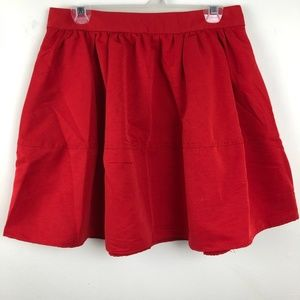 Express Size 10 Red Skater Skirt
